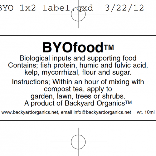byofoodBYOtea Food Instructions